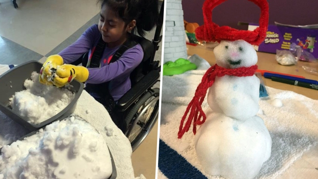 NYC Hospital Brings Powder Inside So Kid Patients Can Have Snow Day