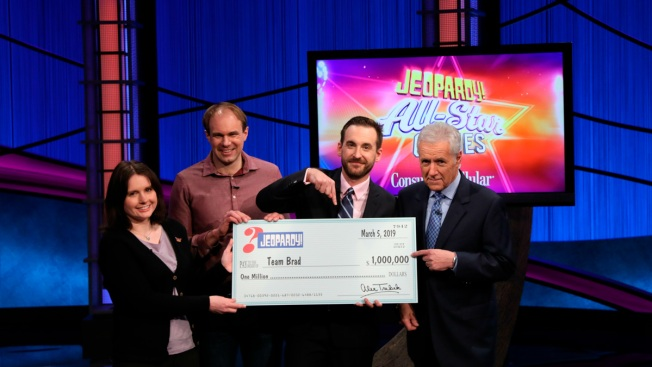 Clash of 'Jeopardy!' Titans Ends With $1 Million Runaway Win