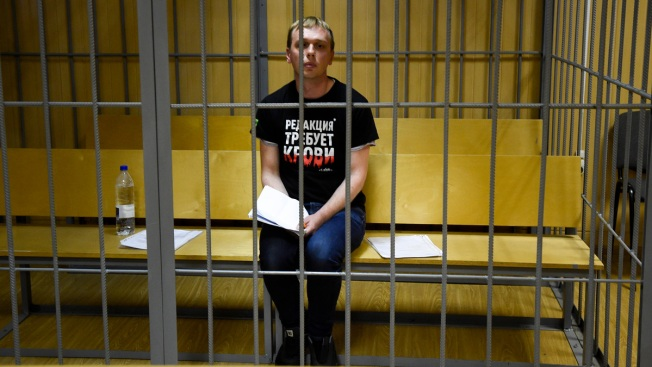 Russian Journalist in Moscow Police Custody Sent to Hospital