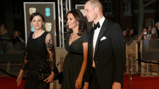Kate Middleton Shows Baby Bump in Flowing Dress at 2018 BAFTA Film Awards