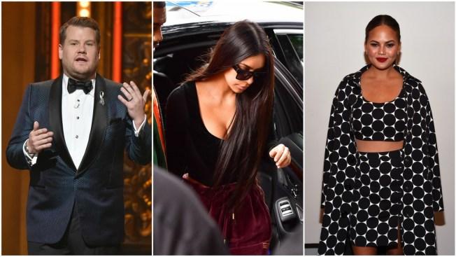 Chrissy Teigen, James Corden and More Stars Defend Kim Kardashian After Paris Robbery