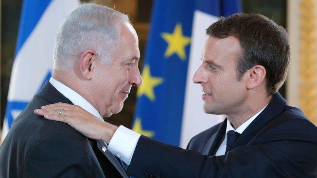 Macron Decries France's Nazi Past During Netanyahu Visit