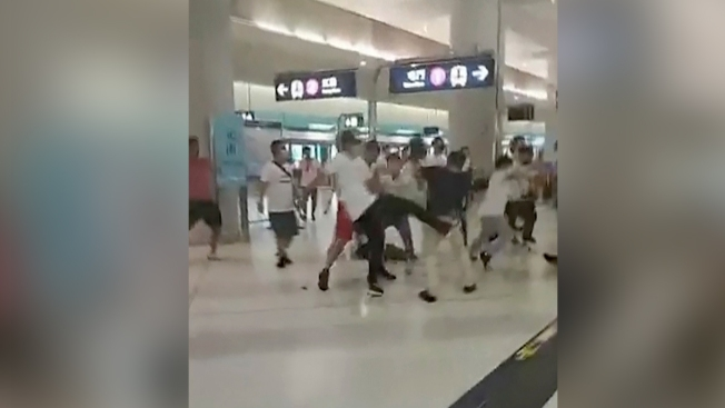 6 Men, Some With Triad Links, Held Over Hong Kong Mob Attack