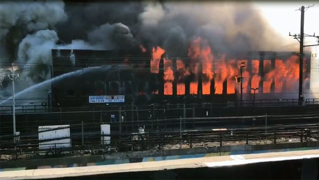 2-Alarm Fire Near Train Tracks In Newark Snarls NJ TRANSIT Service