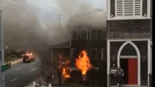 Man Set Church Fire By Dousing Himself in Gasoline, Setting Himself Ablaze: Police