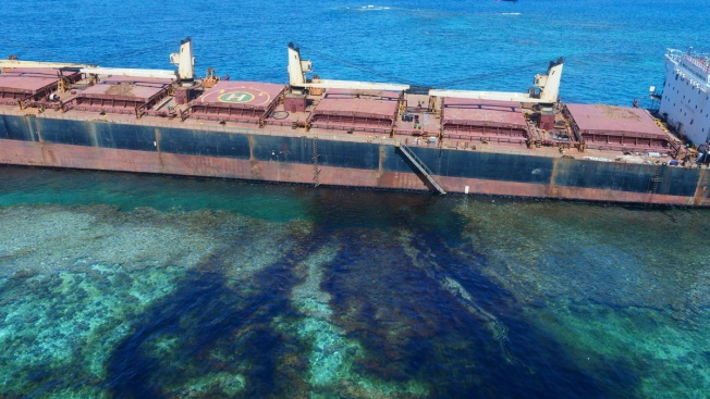 Grounded Ship Leaks 80 Tons of Oil Near Pacific UNESCO Site