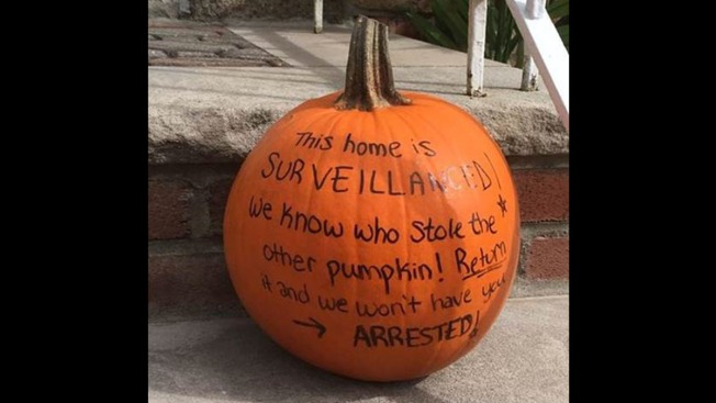 'This Home Is Surveillanced!': NYC Homeowner Leaves Warning on Pumpkin for Gourd Thief