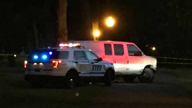 6 injured after van strikes pedestrians, drives into Queens pond