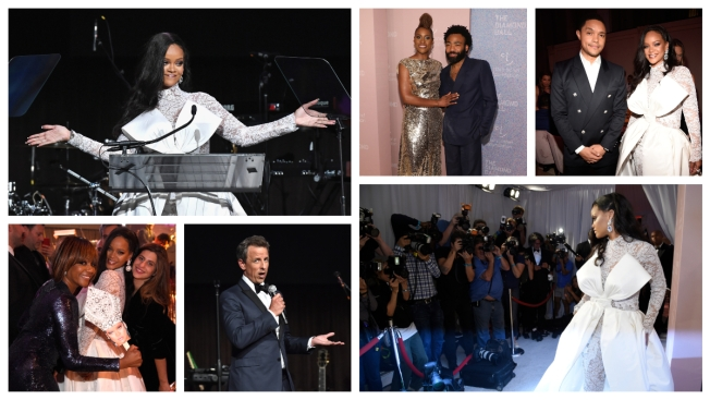 Celebs Turn Out to Help Rihanna's Diamond Ball Shine Bright