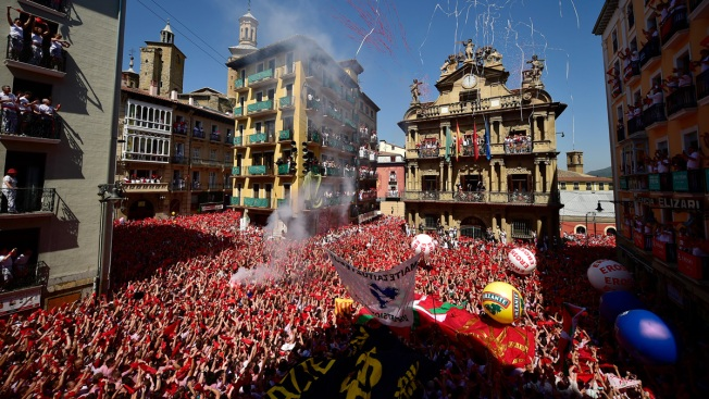 Spain: Pamplona Kicks Off Running of Bulls Festival