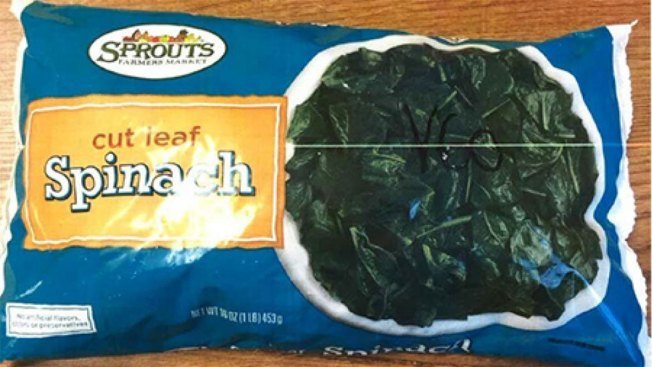 Sprouts Recalls Frozen, Cut Leaf Spinach Over Listeria Concern