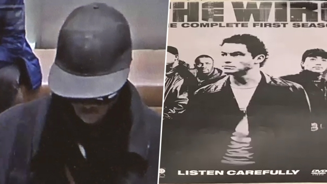 NYPD: Bank Robber Writing Notes on DVD Covers for HBO's 'The Wire'