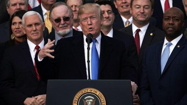 President Trump, GOP celebrate passing tax reform bill