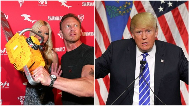 Trump was producers' second choice to play POTUS in 'Sharknado 3'