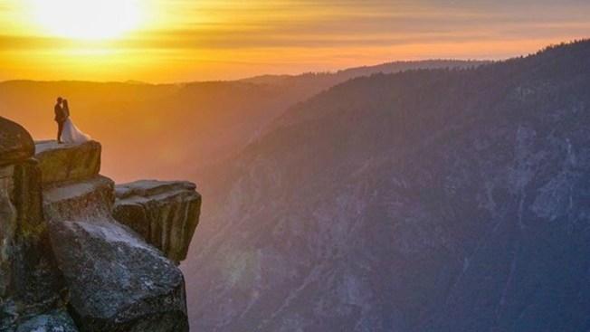 Mystery Couple Seen in Breathtaking Yosemite Wedding Photo