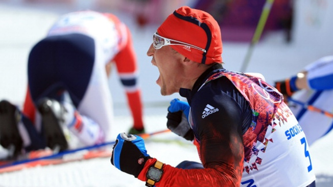 Legkov Leads Russian Sweep of 50K Race at Olympics