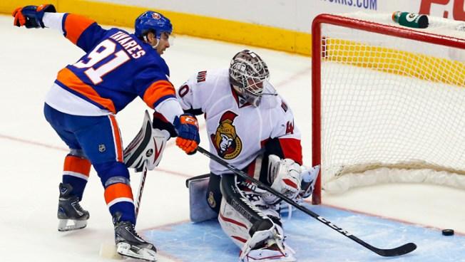 Islanders Beat Senators 3-2 in Shootout