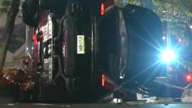 Car Flips onto Sidewalk Near Bryant Park