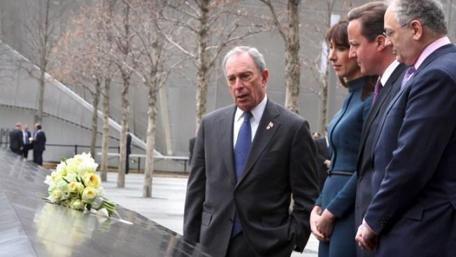 British Prime Minister Visits 9/11 Memorial, Newark