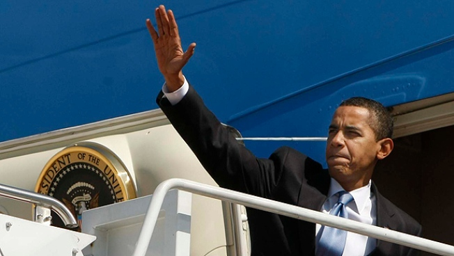 Obama Heads to Reagan Country