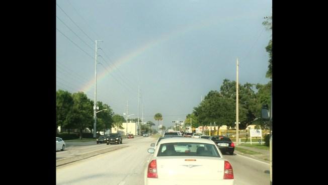 '#OrlandoStrong': Rainbow Arcs Over Orlando, Lighting Up Social Media