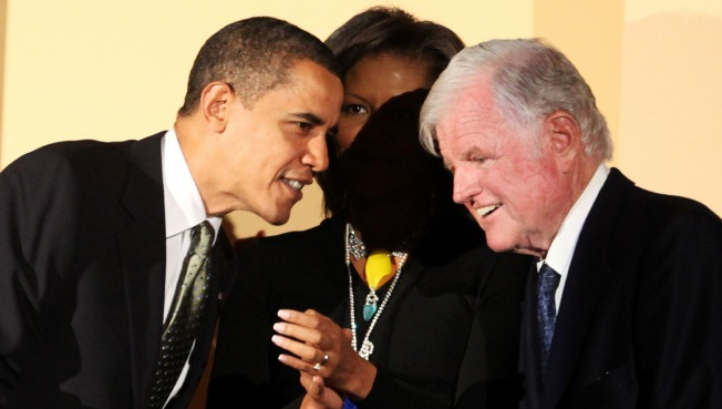 Obama Leads Birthday Salute to Ted Kennedy