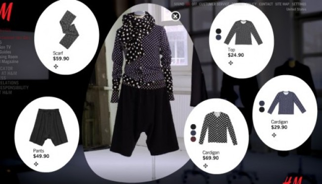 H&M Rolls Out Flashy Online Lookbook for Comme des Garçons