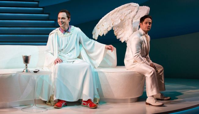 With Jim Parsons as God, Bazingas Fly From On High