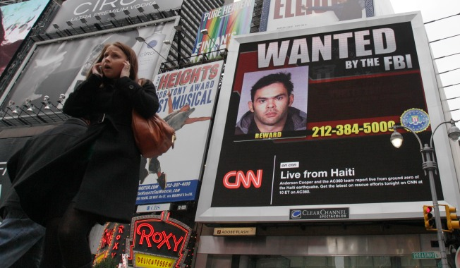 FBI's Most Wanted: Now Live in Times Square