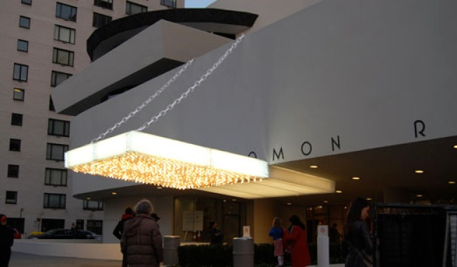 Guggenheim Goes Gaudy: Marquee Floods the UES
