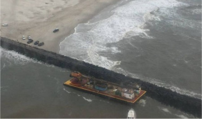 Tugboat, Barge Refloated in Water off New Jersey Coast