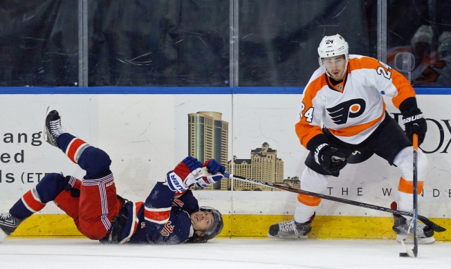 Rangers Stymied by Flyers, 3-0