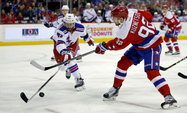 Raanta's 32 Saves Help Rangers Beat Capitals