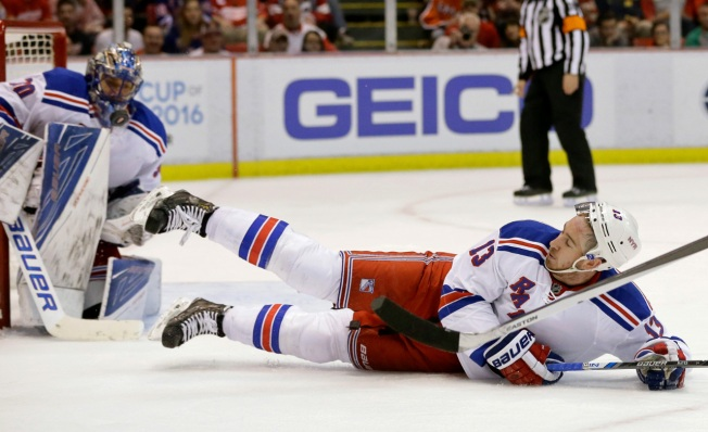 Rangers Blow Lead, Lose 3-2 to Red Wings in OT