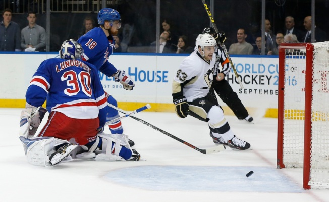Rangers Blanked by Pens, 5-0, Face Playoff Elimination