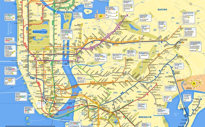 Queens And Manhatan Subway Map.Mta Subway Map Gets A Makeover It S All About Manhattan Nbc New York