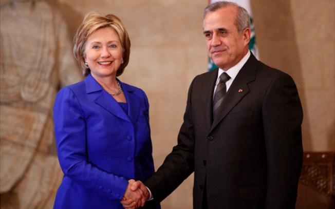 Clinton Meets Lebanese President