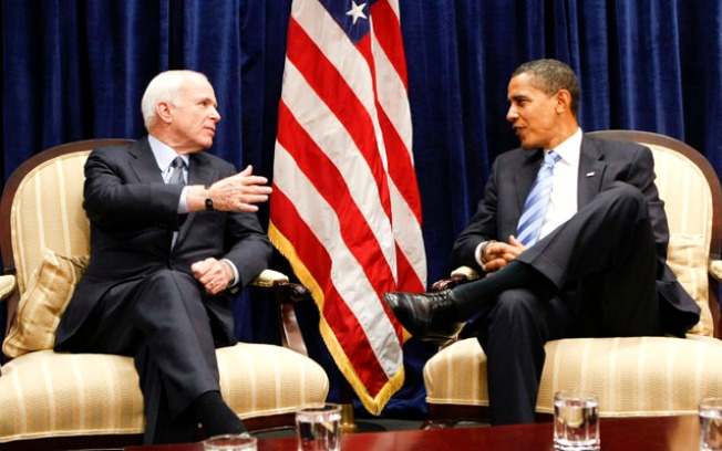 "Obama, McCain Meet to ""Fix Up the Country"""