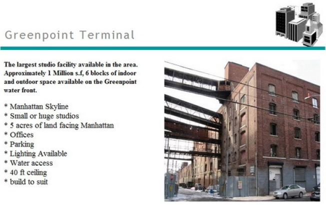 A Greenpoint Terminal  Market Movie Studio?