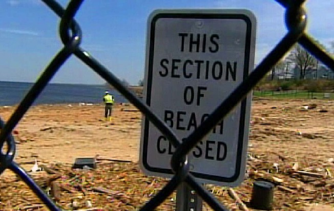 Old Bridge's Lead Beach: Closed For The Summer... And Next Summer....