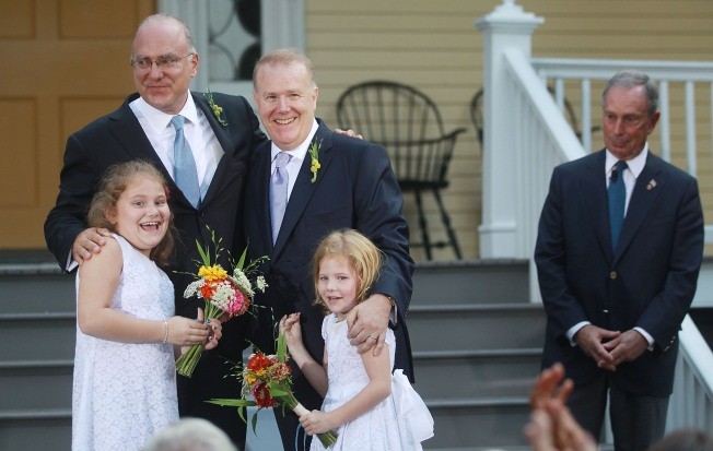 Bloomberg Officiates at Wedding of Two Top City Officials