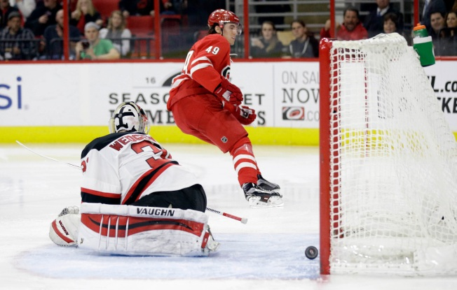 Hurricanes Edge Devils 3-2