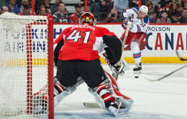 Rangers Blanked by Senators 3-0