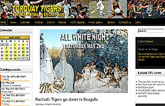 """Rugby Team Uses KKK Photo To Promote """"White Out"""""""
