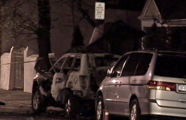 Explosion Damages Car, Injures Driver