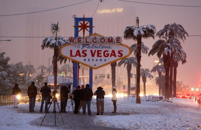 Snow Slams the Strip