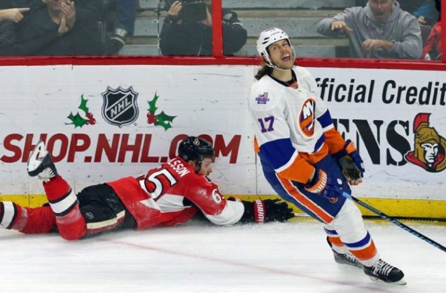 Islanders Squander Lead, Lose 3-2 to Senators in OT
