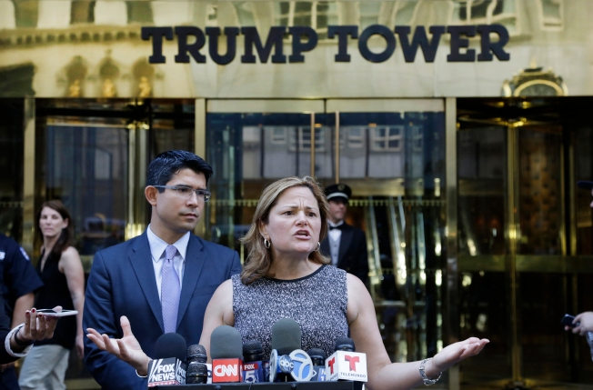 NYC Lawmakers Rally Against Trump Outside His Namesake Tower
