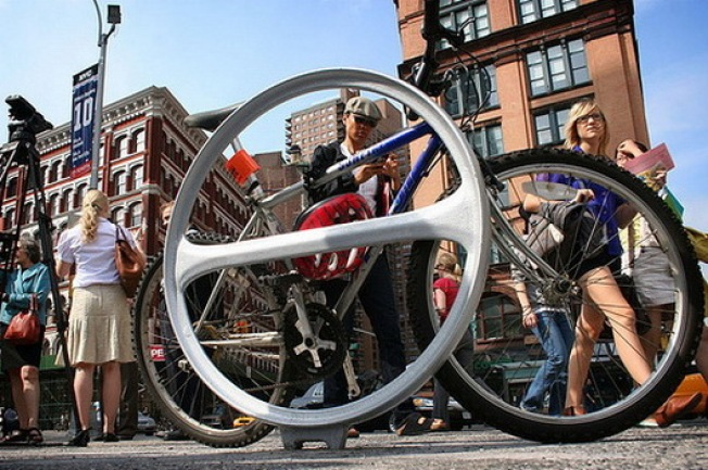 And the Official New Bike Rack Winner Is...the Danish Hoop