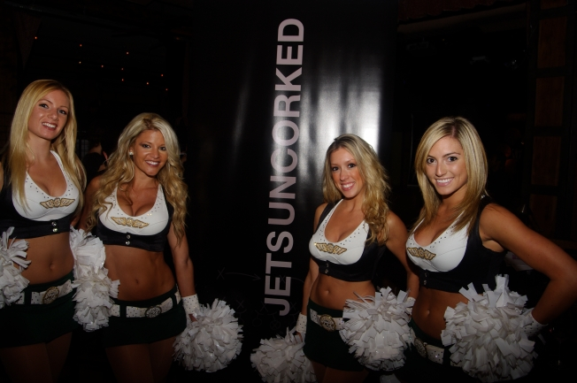 Jets Cheerleaders Introduce Jets Cabernet